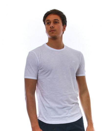SUN68 ROUND NECK T-SHIRT T31110 WHITE