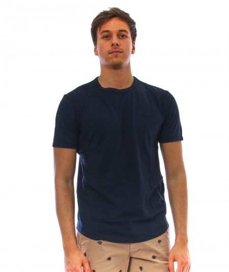 SUN68 ROUND NECK T-SHIRT T31110 NAVY BLUE