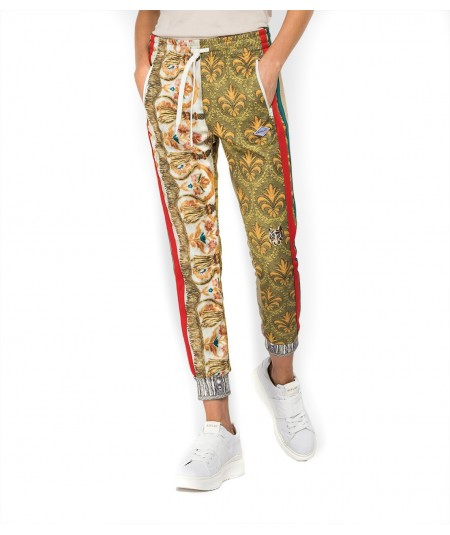 REPLAY SLIM FIT TROUSERS WITH PATCHWORK PRINT W8870G 000 73404