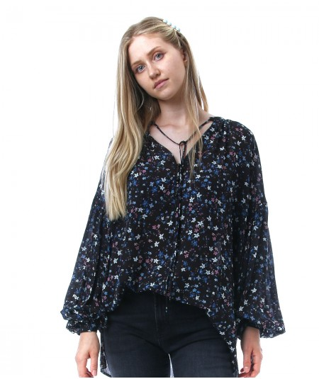 REPLAY BLOUSE WITH FLORAL PRINT W2065A 000 73504