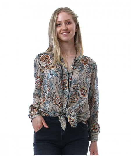 REPLAY BLOUSE WITH FLORAL PRINT W2323B 000 73490