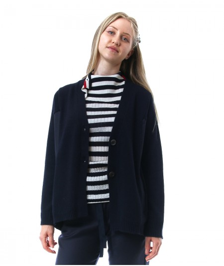 SEMICOUTURE ANNE CARDIGAN WITH FLANNEL INSERTS Y1WA12