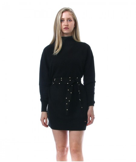 KAOS DAY BY DAY MINI DRESS WITH TURTLE NECK NIBPT033