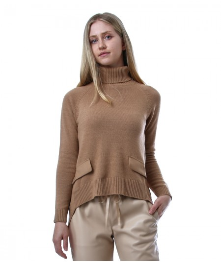 SEMICOUTURE TURTLENECK WITH SWEATER Y1WA14  ETNA