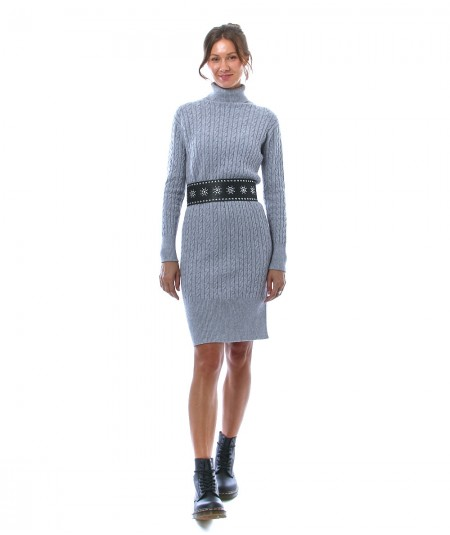 KAOS DAY BY DAY KNITTED MINI DRESS WITH BRAIDED MOTIF NIBPT029