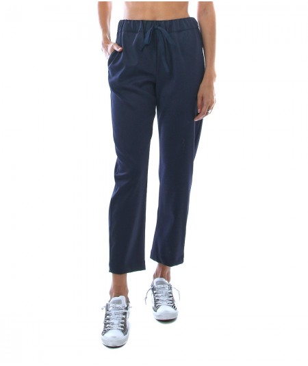 SEMICOUTURE JOGGING TROUSERS BUDDY Y1WI07 BLUE