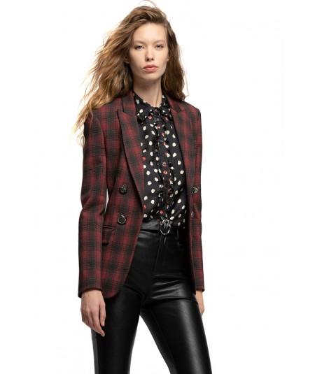 PINKO CHECK PRINT CLOTH STICHT BLAZER FULMINE 2