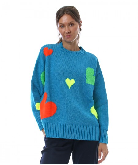 KAOS JEANS SWEATER WITH HEARTS NIJFP090