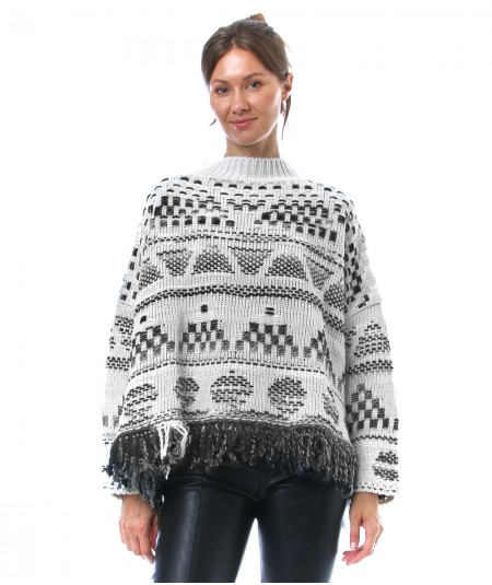 ICONA BY KAOS KNITTED PATTERNED SWEATER NI5FP048