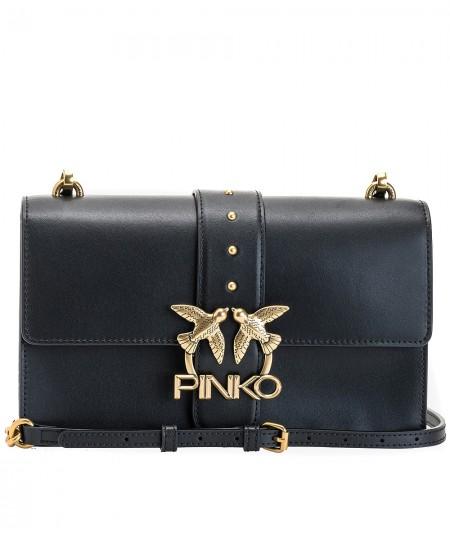 PINKO BLACK BAG LOVE CLASSIC ICON SIMPLY 8 BLACK