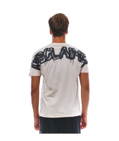 DISCLAIMER JERSEY MAN T-SHIRT 50961OFF WHITE