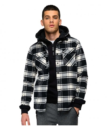 REPLAY MEN'S CHECK FLANNEL SHIRT WITH POCKETS W4067 000 52438