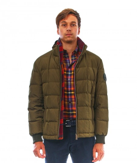 ETRO DOWN JACKET WITH PATCH U1S950 0022 500 GREEN