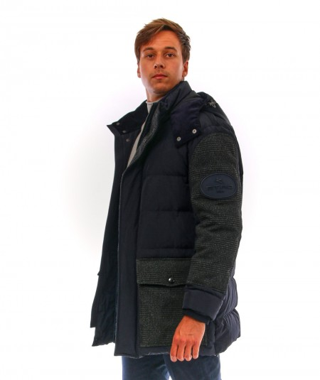 ETRO MID DOWN JACKET WITH PATCH U1S953 8630 200 BLUE
