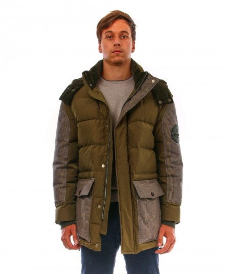 ETRO MID DOWN JACKET WITH PATCH U1S953 0022 501 GREEN
