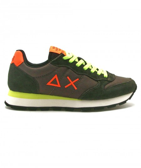SUN68 SNEAKERS RUNNING ADULT TOM NYLON FLUO Z41102 ARMY GREEN