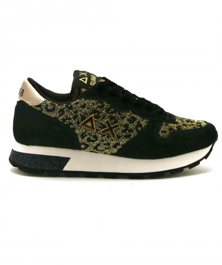 SUN68 SNEAKERS RUNNING ADULT ALLY ANIMAL SOUL Z41204 LEOPARD GOLD