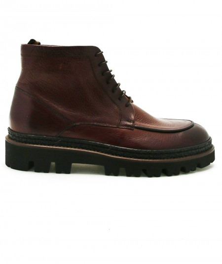 ROSSI LEATHER BOOTS 119P BROWN