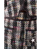 Shirtaporter Gonna in tweed multicolor