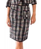 Shirtaporter sheath skirt in multicolor tweed