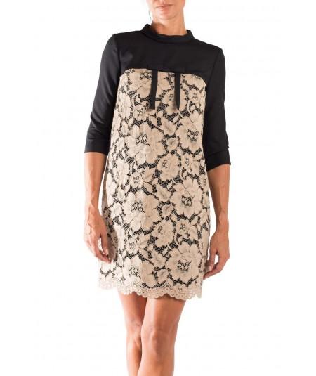 Twin Set Black and Beige dress