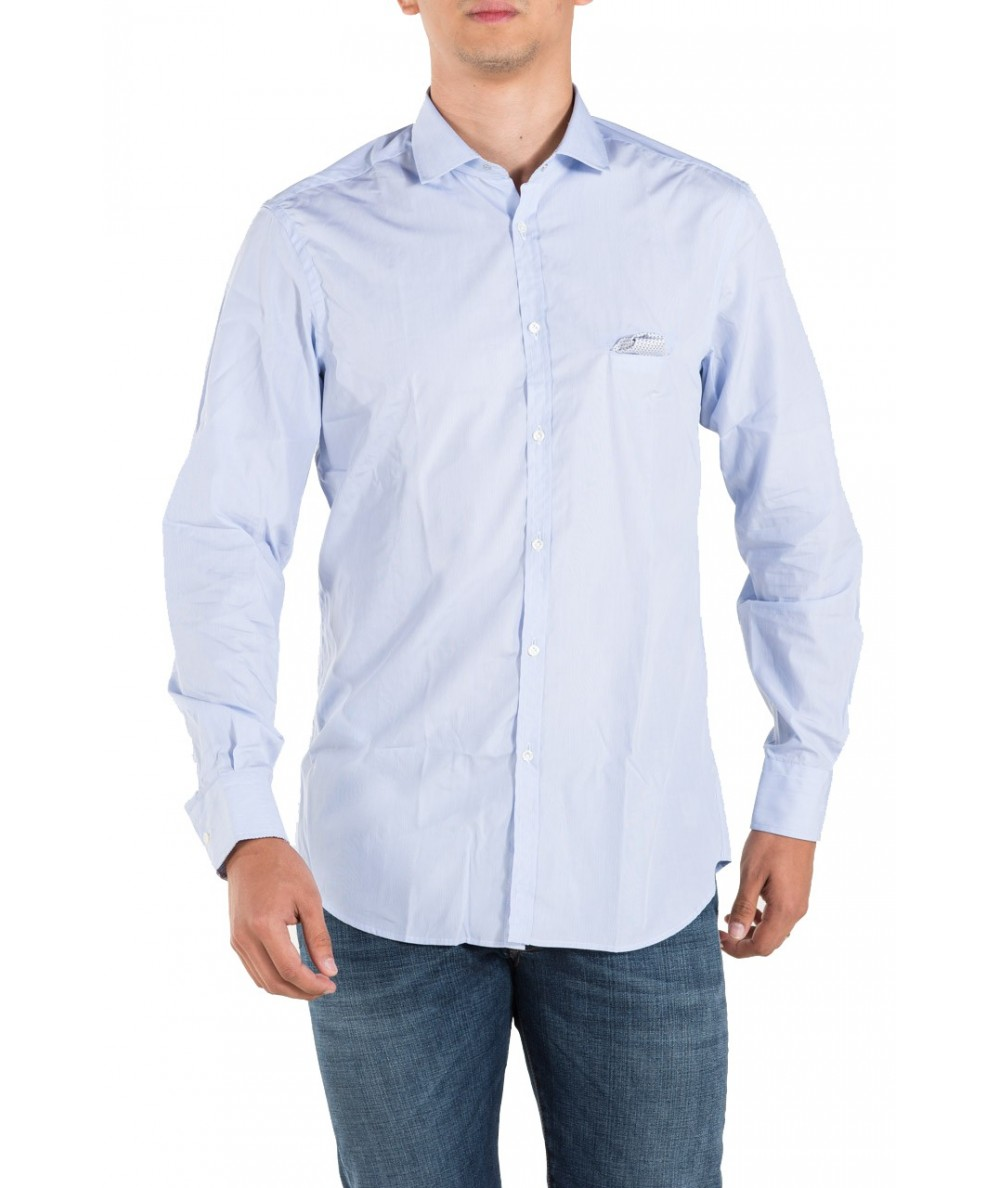 Aglini Camicia in Blu