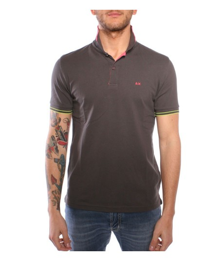 Sun68 Brown cotton Polo Shirt
