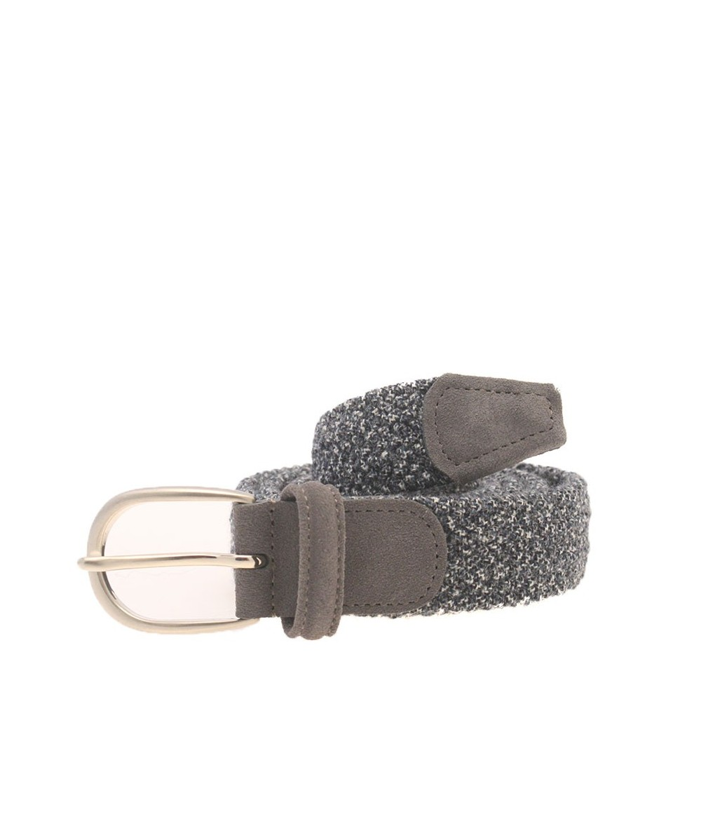 Anderson's Cintura Intrecciata in Tessuto Grigio
