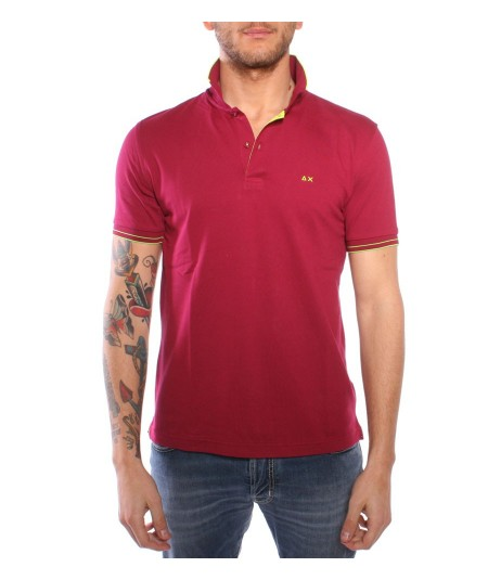 Sun68 bordaux cotton Polo Shirt