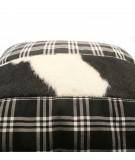 MONDRIAN Cuscino scozzese in vera pelle cavallino 60 x 60 cm