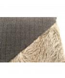 MONDRIAN Cuscino scozzese in vera pelle cavallino 40 x 40 cm Solden 1