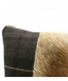 MONDRIAN Cuscino 40 x 40 cm in vera pelle cavallino