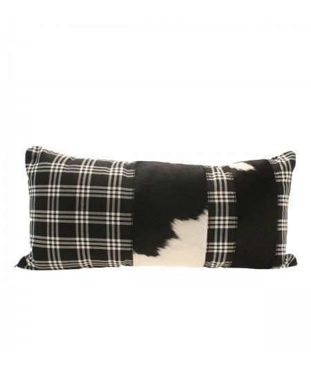 25 x 50 cm genuine leather Cushion Mondrian cavallino Cortina