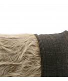 MONDRIAN Cuscino 25 x 50 cm in vera pelle cavallino Cortina