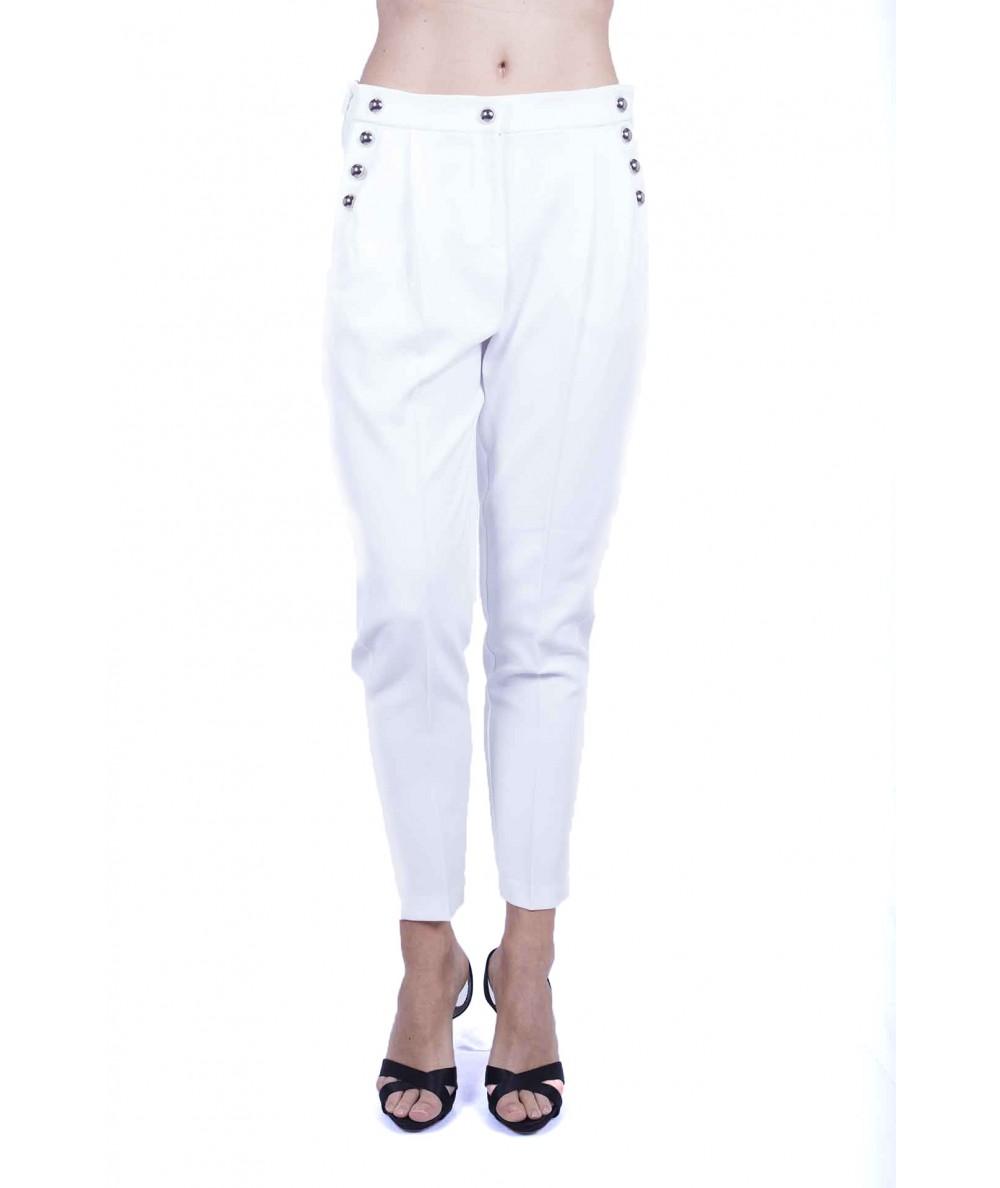 Pinko Pantaloni in canvas fluido Bianco