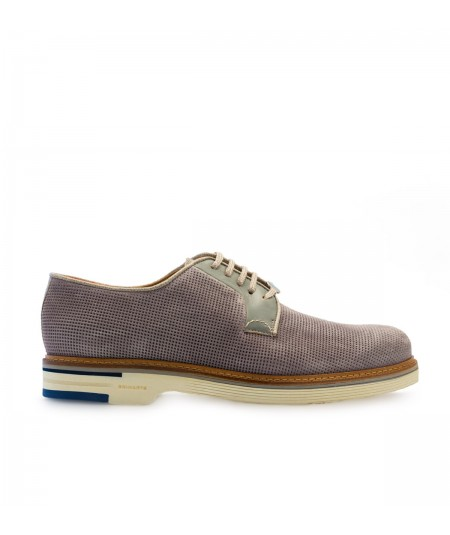 Brimatrs Grey Leather Man shoes