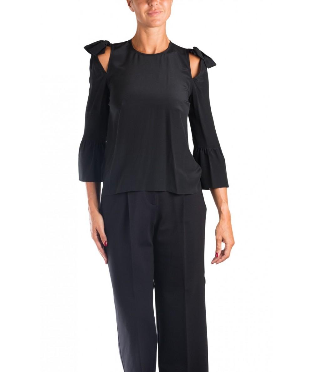 Pinko camicia in seta nera