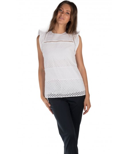 MICHAEL KORS TOP BIANCO MS74L3X4FW
