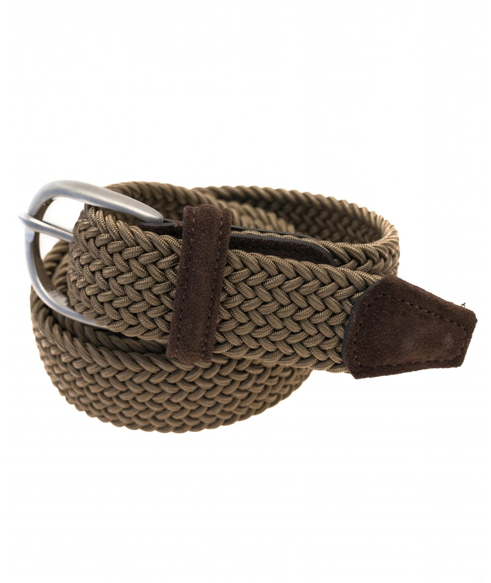 Anderson's black and gray fabric woven belt